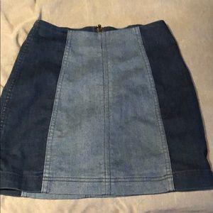 Two tone Free People denim skirt